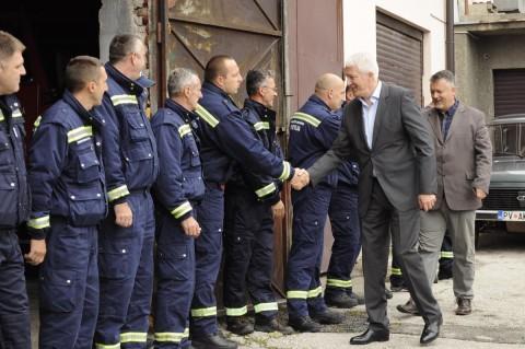 Popadić posjeta vatrogascima
