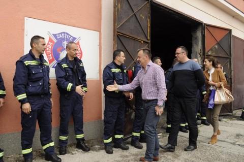 posjeta vatrogascima - priznanje